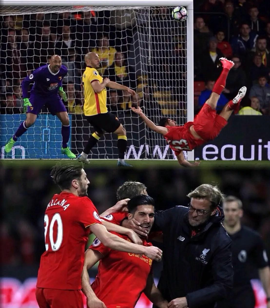 Klopp Hails Can's 'Spectacular' Goal Vs Watford; Midfielder Celebrates 'My Best Goal Ever'