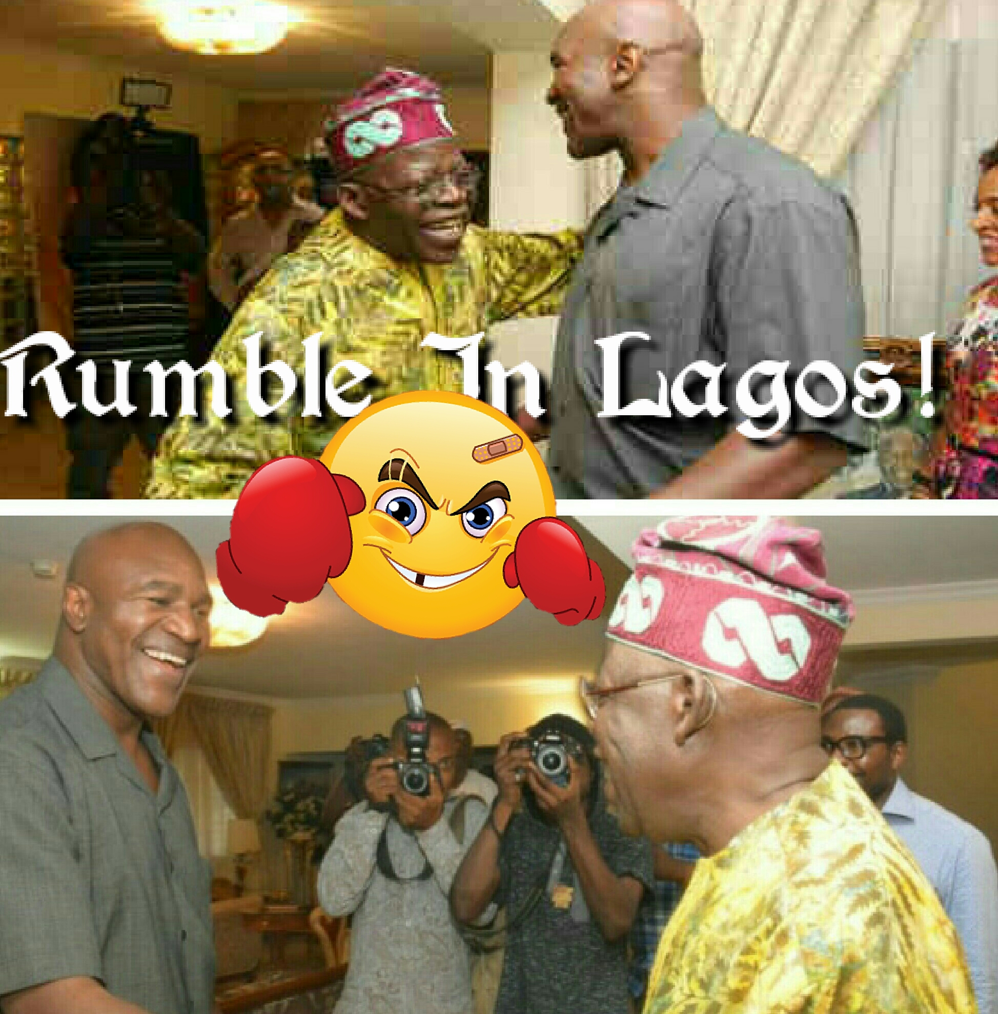 Lagos At 50: Tinubu Fights Holyfield For Charity, Soyinka Is Referee