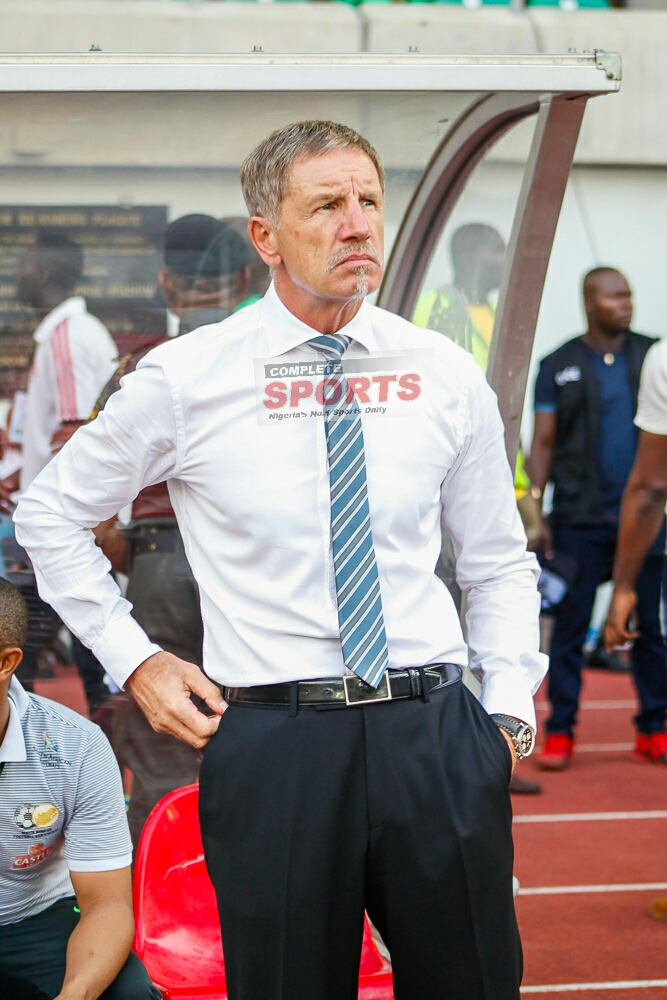 Bafana Coach Baxter Plans To Stifle Eagles' Momentum With Aggression