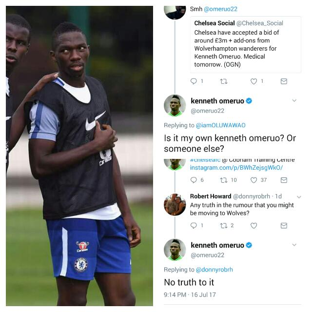 Omeruo: It's Not True, I'm Not Joining Wolves