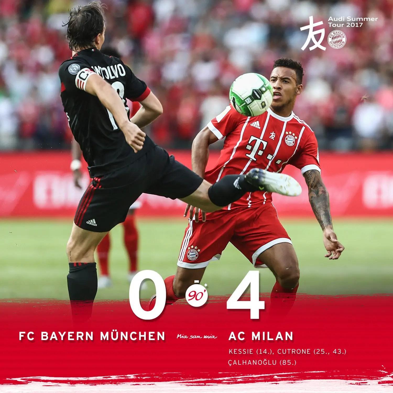 AC Milan Humiliate Bayern Munich In ICC Clash