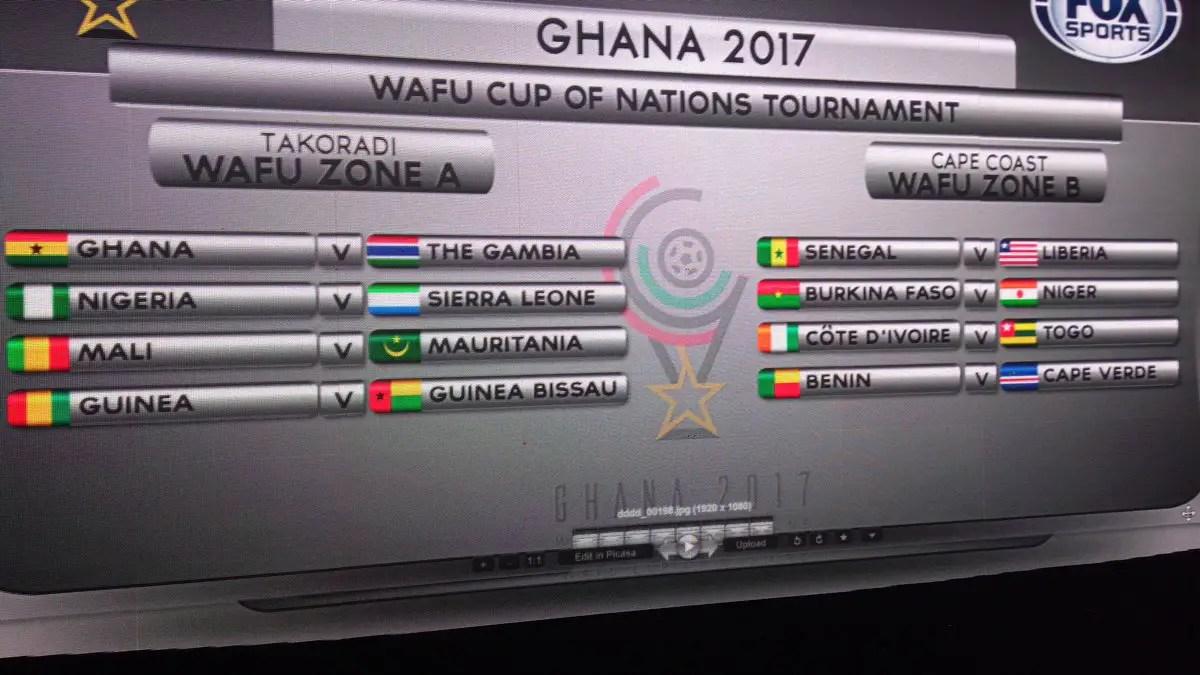 Nigeria Draw Sierra Leone In WAFU Cup, Ghana Battle Gambia