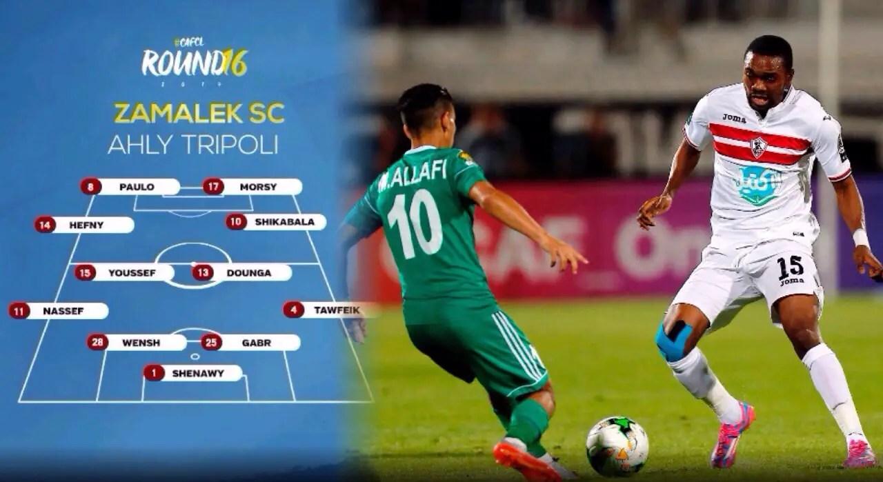 CAFCL: Youssef Scores, Ohawuchi Subbed On As 10-Man Zamalek Draw At Al Ahli Tripoli, Crash Out