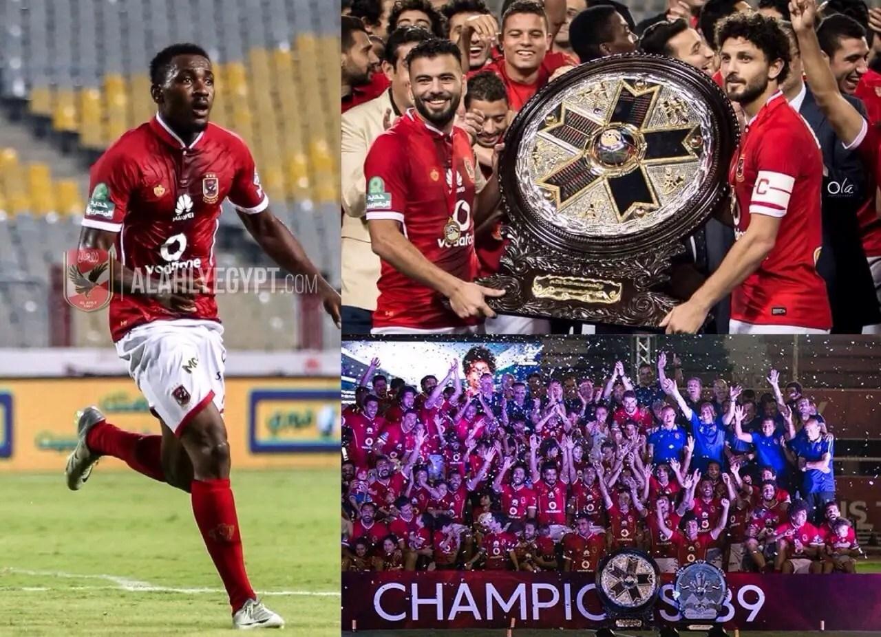 Ajayi Savours Egyptian League Win With Al Ahly, Plays Down Transfer Talks