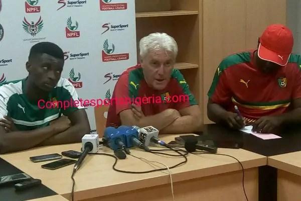 War In Cameroon Camp As Coach Broos Publicly Blasts Star players Aboubakar, Bassogog