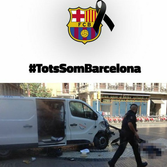 Barca Honour Victims Of Terror Attack In Barcelona