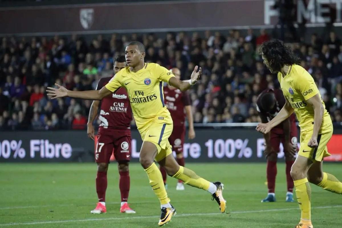 Mbappe, Neymar Score As PSG Claim Fifth Straight Ligue 1 Win