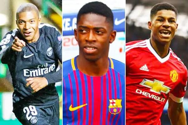 Mbappe, Dembele, Rashford, 22 Others Vie For Euro Golden Boy Award