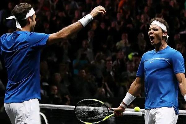 Legends Federer, Nadal Celebrate Rare Lavar Cup Partnership