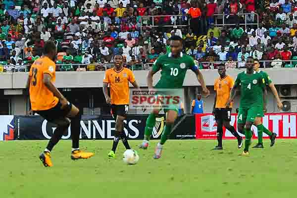 PHOTOS: Super Eagles Fly Over Chipolopolo To Russia 2018 World Cup