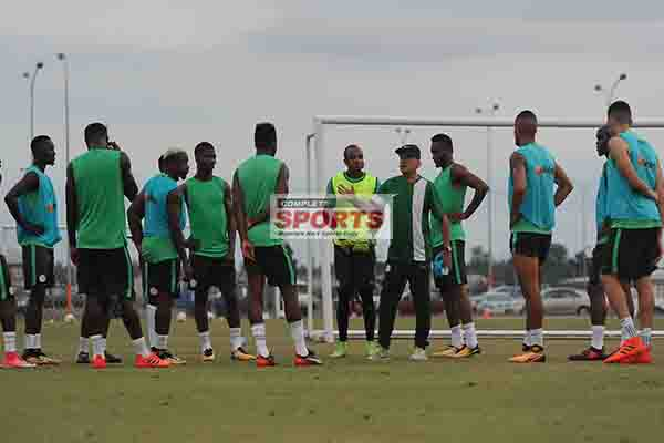 PHOTOS: Super Eagles Begin Training For Zambia In Uyo