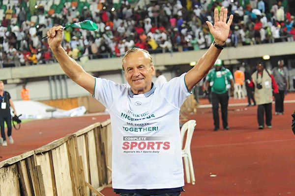Rohr Relieved Super Eagles Beat 'Tough' Zambia, Qualified From 'Difficult' Group