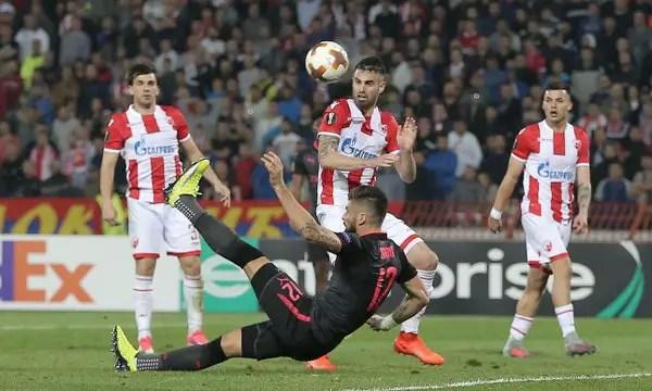 Europa: Arsenal Edge 10-Man Red Star As Gero Scores; Ogu, Nwakaeme, Ezekiel Lose