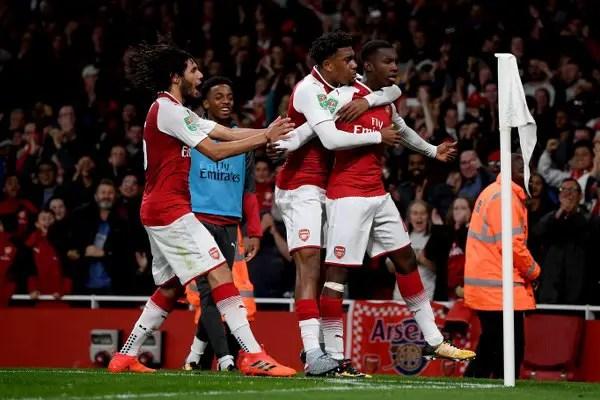 Iwobi Returns As Youngster Nketiah Sends Arsenal Into Carabao Cup Q/Finals
