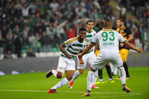 Mikel Agu Opens Goals Account As Bursaspor Win Battle Of Nigerians