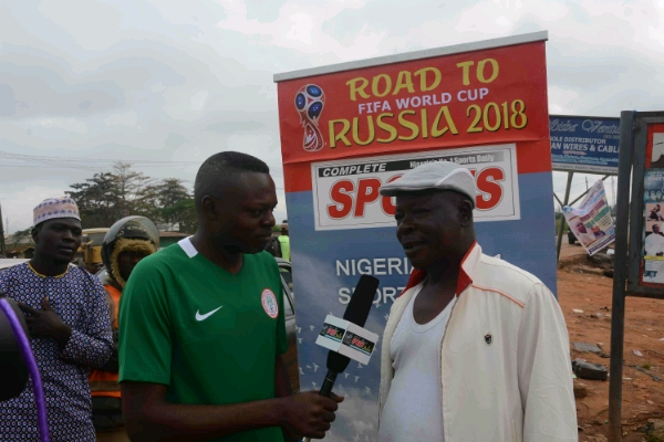 Super Eagles Fans Tell Complete Sports 'Road To Russia' Crew Zambia Will Fall