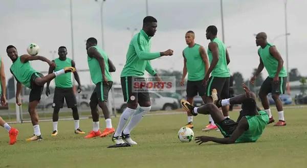 Moses, Iwobi Missing; Ajiboye, Akpeyi Sparkle As 20 Super Eagles Train For Zambia