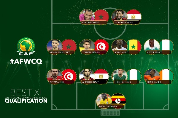 Moses, Balogun, Mane Make CAF's 2018 World Cup Qualifiers Overall Best XI