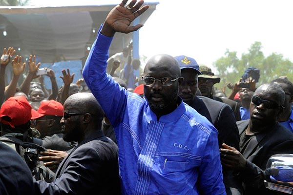 OFFICIAL: George Weah Wins Liberia's Presidential Election