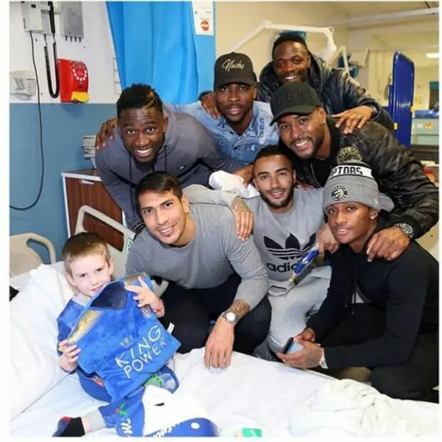 Iheanacho, Ndidi, Musa Spread Christmas Cheer At Hospital