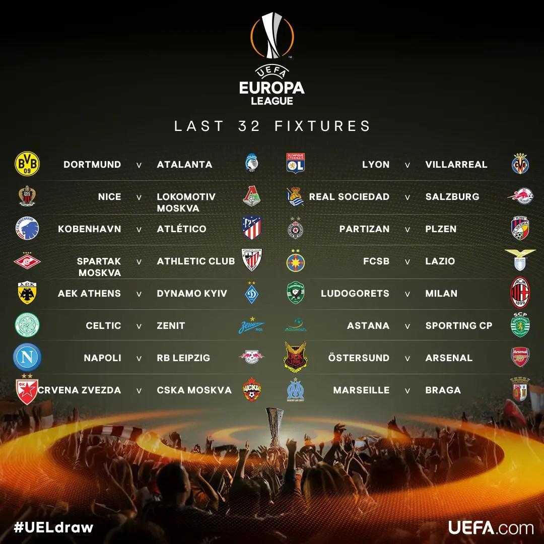 Europa: Iwobi, Gero To Clash As Arsenal Draw Ostersund; Milan, Atletico To Face Ludogorets, Copenhagen