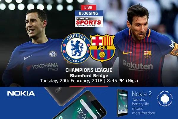 LIVE BLOGGING: Chelsea vs Barcelona – UEFA Champions League