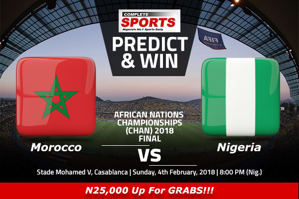 Morocco vs Nigeria: Win N25,000 In Complete Sports Predict & Win Competition