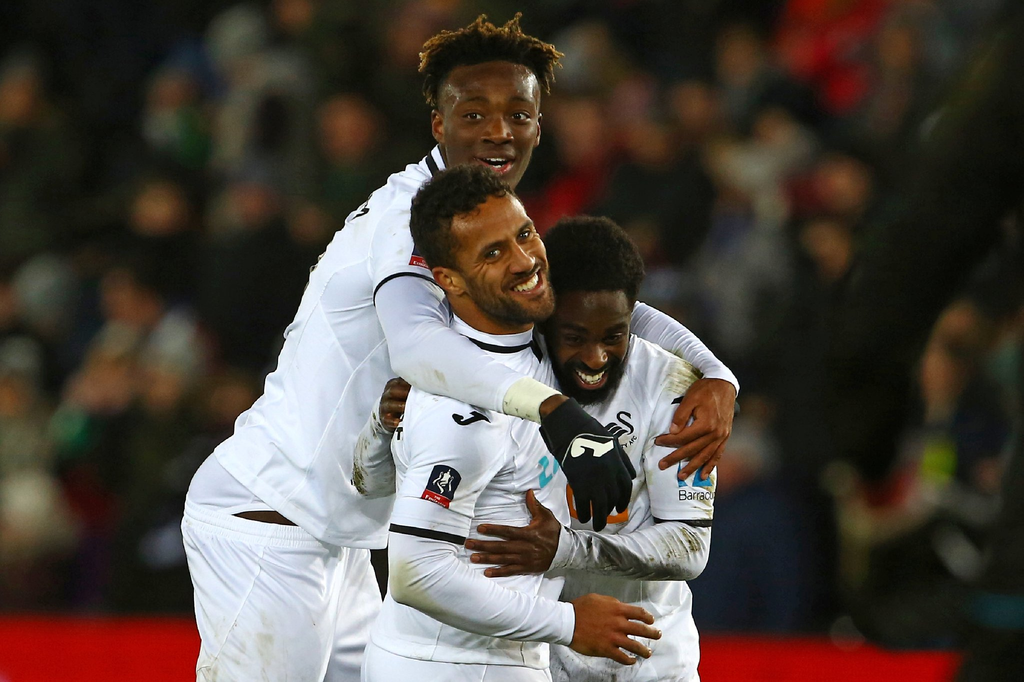 FA Cup: Huddersfield To Face United; Ameobi Benched, Abraham Hits Brace In Swansea Rout