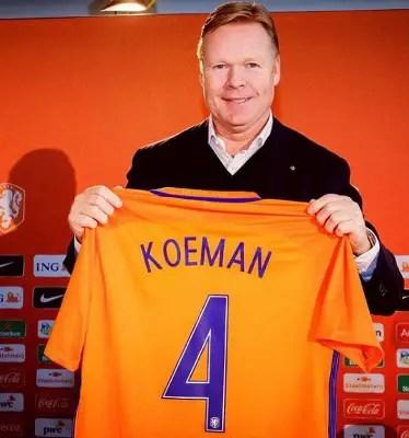 Netherlands Name Ronald Koeman New Head Coach