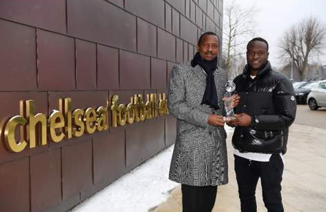 """Moses """"Over The Moon"""" After Collecting Aiteo/NFF Best Player Award"""