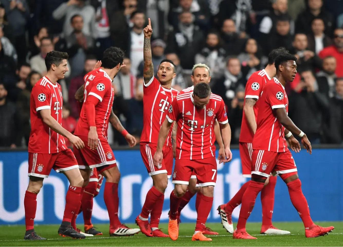 Bayern Ease Past Besiktas Into Champions League Quarter-Finals