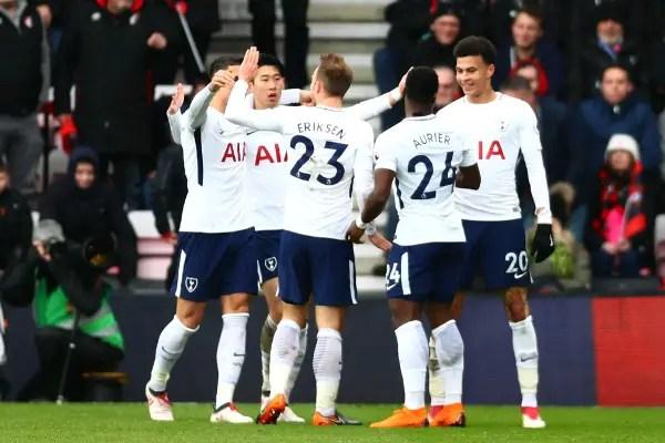 Kane Off Injured As Spurs Beat Bournemouth, Overtake Liverpool