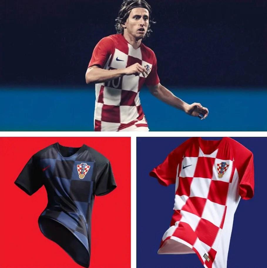 Modric, Mandzukic Launch Croatia's New Nike World Cup Jerseys
