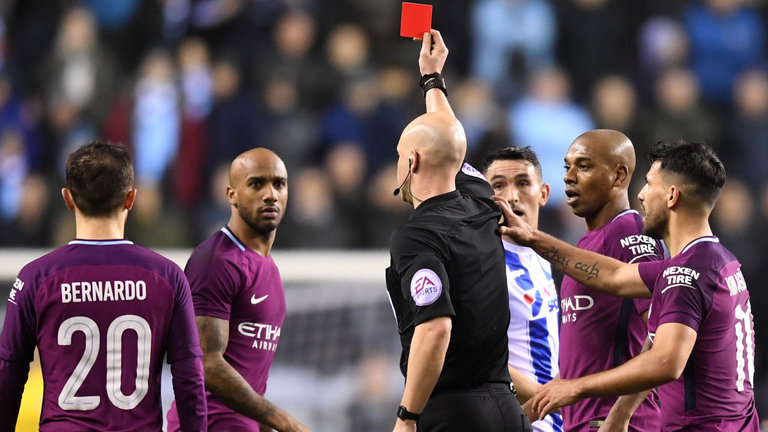 Man City Fined £50K For Players' Misconduct In FA Cup Defeat To  Wigan