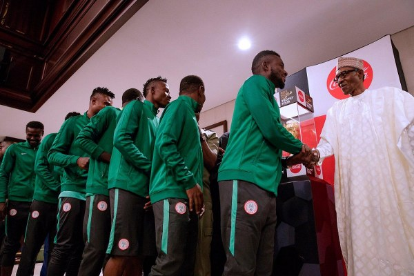 CHAN Eagles Players Disappointed After President Buhari's 'Handshake Reception'