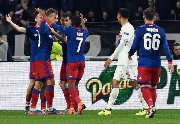 Europa: Musa Fires CSKA Moscow Past Lyon, Iwobi Benched As Arsenal Stop Milan, Dortmund Out