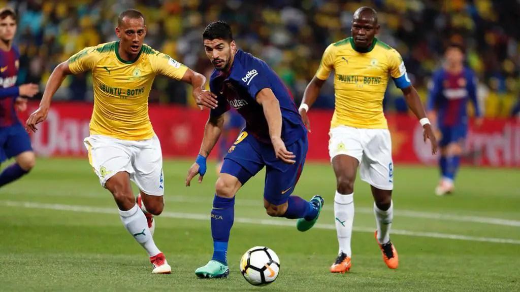 Messi, Suarez, Iniesta Star As Barca Beat Sundowns In Mandela Centenary Cup