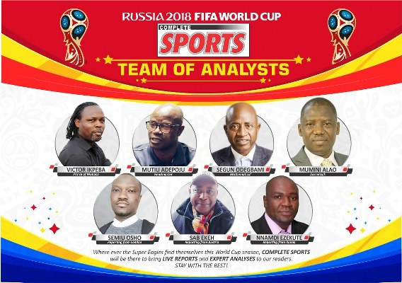COMPLETE SPORTS Unveils Team Of Analysts, Reporters For World Cup