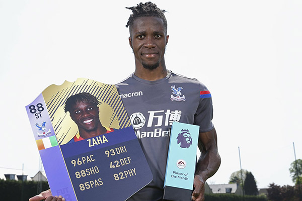 Zaha Beats Pogba, Aubameyang To  EPL April Best Player Award