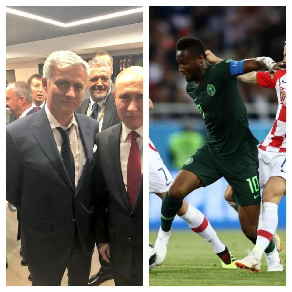 Mourinho: Mikel A Good No.6, Bad No.10 For Super Eagles
