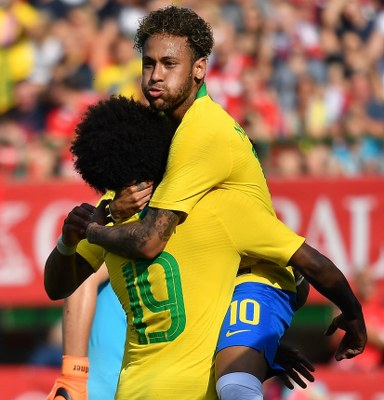 Neymar Matches Romario Goals Record As Brazil Outclass Alaba's Austria