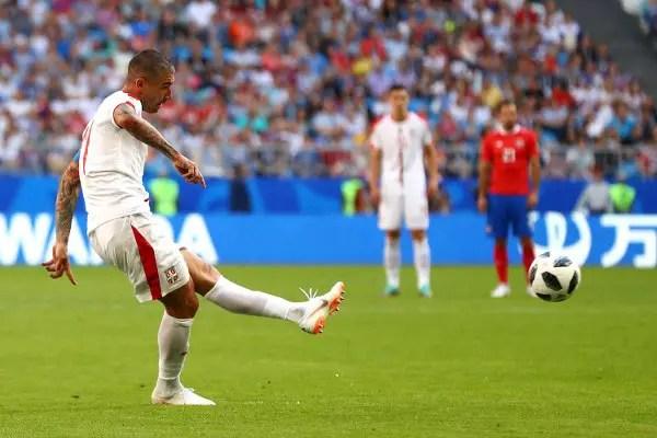 Kolarov Fires Serbia Past Costa Rica With Spectacular Free-Kick