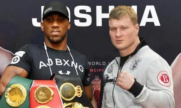 WBA Threatens To Strip Joshua Of World Title Over Povetkin Fight