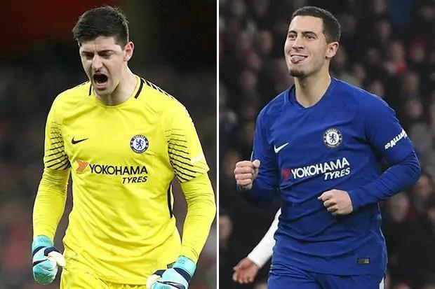 Sarri Noncommittal On Hazard, Courtois' Future At Chelsea