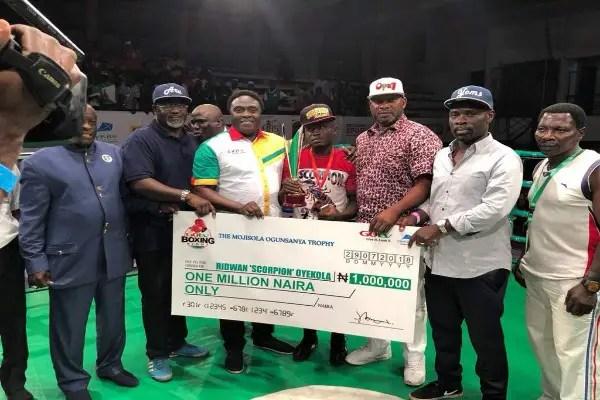 'Scorpion' Oyekola Wins GOtv Best Boxer Award