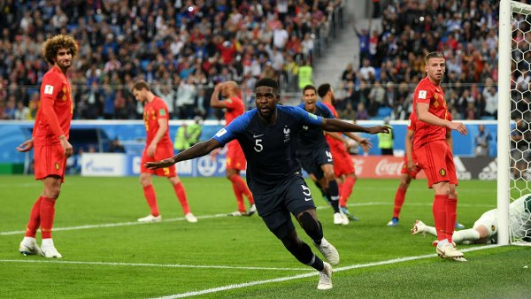 Russia 2018: Umtiti's Header Breaks Gallant Belgium's Back To Send France Into Final