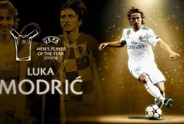 Modric Beats Ronaldo, Salah To 2018  UEFA Player Of The Year Award