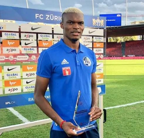 Eleke Wins Goal Of The Month Award In Switzerland