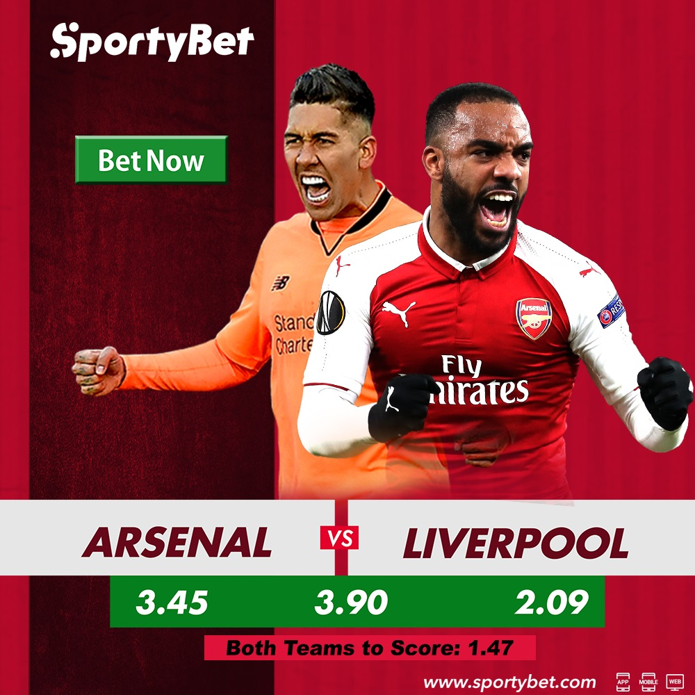 SportyBet: Arsenal vs Liverpool Betting Preview