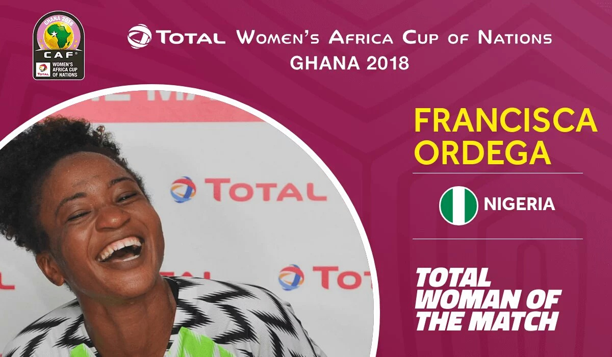 Ordega Voted Woman Of The Match In Falcons Win Vs Zambia
